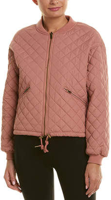 Betsey Johnson Performance Reversible Diamond Quilted Jacket