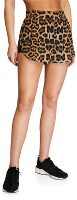 Terez Leopard-Printed Wind Shorts