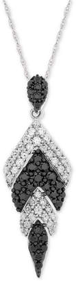 """Wrapped in Love Diamond Feather 18"""" Pendant Necklace (1 ct. t.w.) in 14k White Gold"""