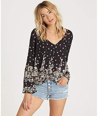 Billabong Women's Forget Me Knot Printed Woven Top