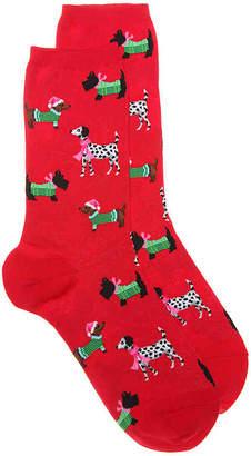Hot Sox Christmas Dogs Crew Socks - Women's