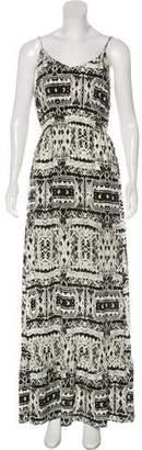 Twelfth Street By Cynthia Vincent Printed Silk Maxi Dress