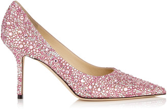 8d887f9e248d Jimmy Choo LOVE 85 Rose Mix Multi Crystal Hotfix Pointy Toe Pump