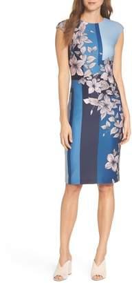 Vince Camuto Print Scuba Body-Con Dress