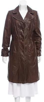 Beretta Leather Knee-Length Coat