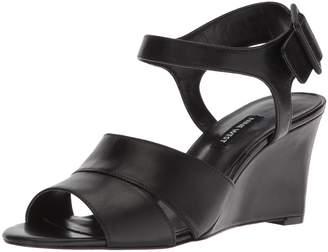 Nine West Women's Vahan Leather Wedge Sandal