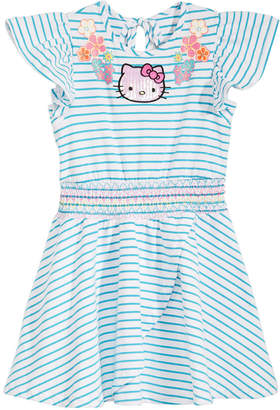 Hello Kitty Little Girls Striped Dress