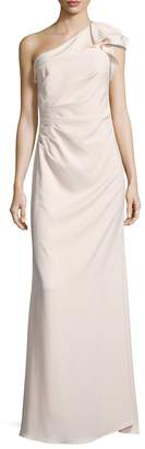 Carmen Marc Valvo Women's Pleated One Shoulder Gown
