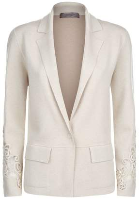D-Exterior D.exterior Lace Embroidered Blazer
