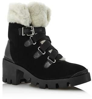 Schutz Women's Aretuza Suede & Shearling Boots