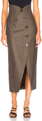Nanushka Sari Skirt in Stone Black | FWRD