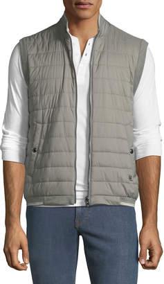 Ralph Lauren Men's Reversible Zip-Front Quilted Vest
