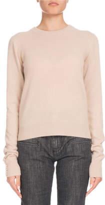 Altuzarra Crewneck Long-Sleeve Braided-Back Cashmere Sweater