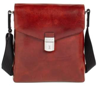 Bosca 'Man Bag' Leather Crossbody Bag