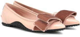 Tod's X Alessandro Dell'Acqua patent leather ballet flats