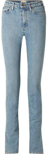W009 Arizpe High-rise Slim-leg Jeans - Light denim
