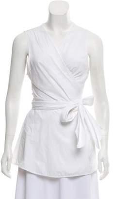 Diane von Furstenberg Sleeveless Wrap Tunic