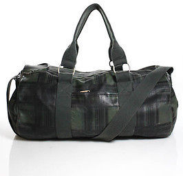 """Marc By Marc JacobsMarc By Marc Jacobs Green Leather Plaid Pattern Luggage Bag Size 19"""""""