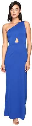 Adrianna Papell Jersey One Shoulder Gown w/ Cutout Women's Dress