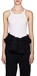 RE/DONE Women's Rib-Knit Cotton Tank - White