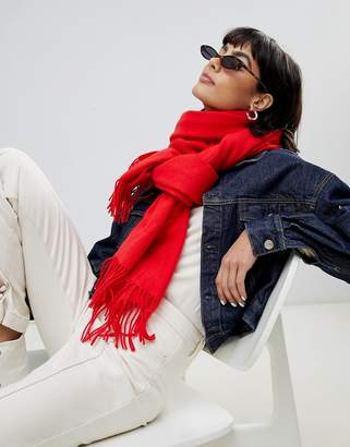 Weekday wool scarf in red