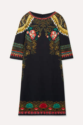 Etro Printed Crepe Dress - Black