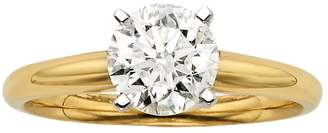 Kohl's Round-Cut IGL Certified Colorless Diamond Solitaire Engagement Ring in 18k Gold (1 1/2 ct. T.W.)