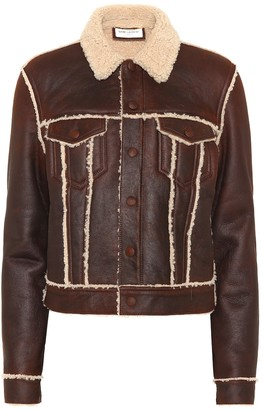 Saint Laurent Shearling-lined leather jacket