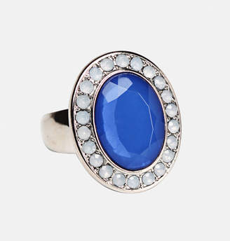 Avenue Coastal Blue Oval Stretch Ring
