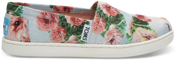 Pink Graphic Floral Print Youth Classics