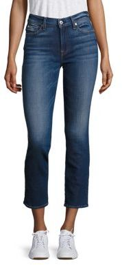 7 For All Mankind Roxanne Cigarette Skinny Ankle Jeans $199 thestylecure.com