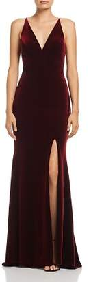 Aqua Velvet Sleeveless Gown - 100% Exclusive