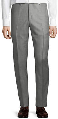 Santorelli Men's Sharkskin Wool Dress Pants