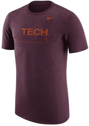 Nike Men's Virginia Tech Hokies Vault Logo Tri-Blend T-Shirt