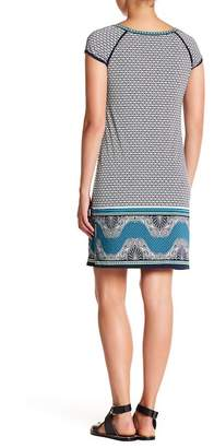 Max Studio Printed Cap Sleeve Dress