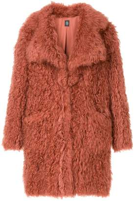 Eleventy lama fur coat