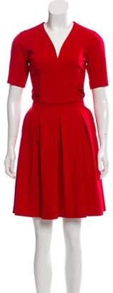 Issa Pleated Mini Dress Red Pleated Mini Dress