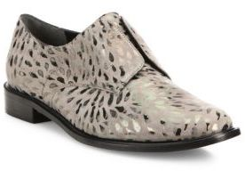 Robert Clergerie Jaml Metallic-Print Leather Oxfords $550 thestylecure.com