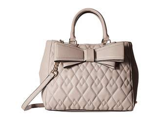 Betsey Johnson Quilted Satchel Satchel Handbags