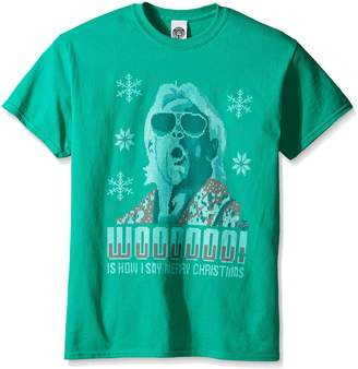 WWE Men's RIC Flair Wooo Ugly Christmas T-Shirt