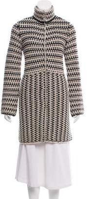 Tory Burch Knit Knee-Length Coat