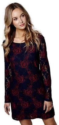 Yumi London - Navy Floral Lace 'Gracie-Mai' Shift Dress
