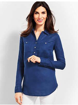 Talbots Linen Camp Shirt - Piece-Dyed