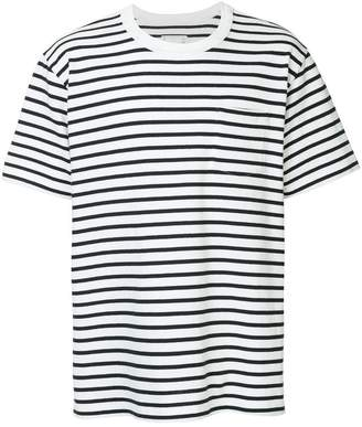 Sacai striped short sleeve T-shirt