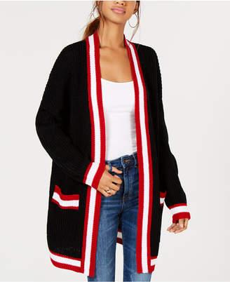 Say What Juniors' Varsity-Stripe Cardigan