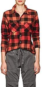 NSF Women's Kimberly Buffalo-Checked Cotton Shirt - Red