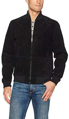 Obey Men's Clifton Suede Bomber Jacket