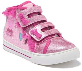 Peppa Pig ESQUIRE Ruffled High-Top Sneaker (Toddler)