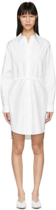 Stella McCartney White Gathered Shirt Dress