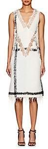Calvin Klein Women's Embellished Mohair-Blend Bouclé Dress - Anisette Black White